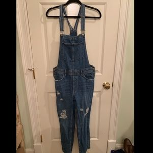 H&M Distressed Overalls